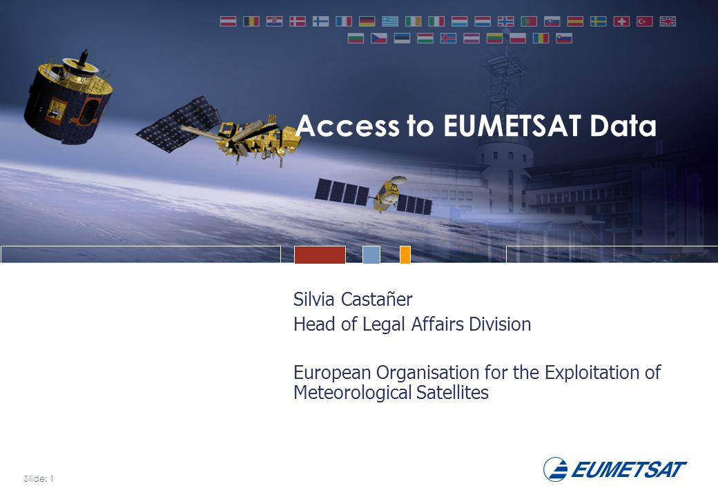 Slide: 2 Session Information Gathering and Sharing Bridging the Gap Conference, May 2008 Overview EUMETSAT and its mandate Objectives of the EUMETSAT Data Policy Data Policy Principles Current Data Policy Conditions User Registration and Licensing Data Access and User Management Outlook: EUMETSAT's Contribution to GMES and GEO