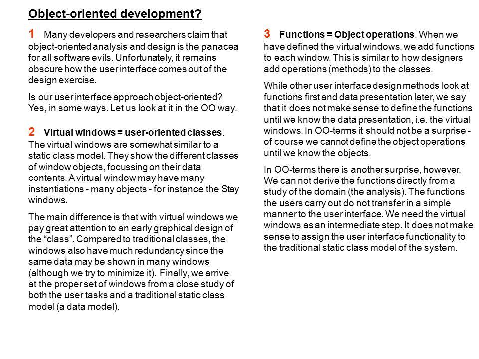 Object-oriented development.