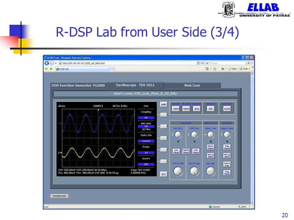 R-DSP Lab from User Side (3/4) 20