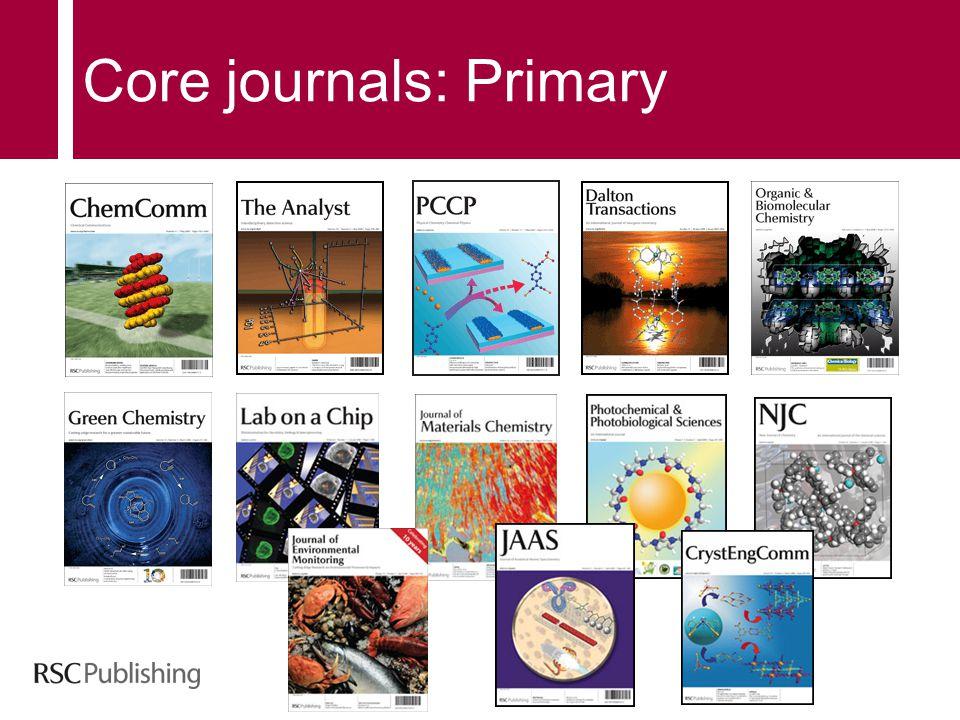 Core journals: Primary