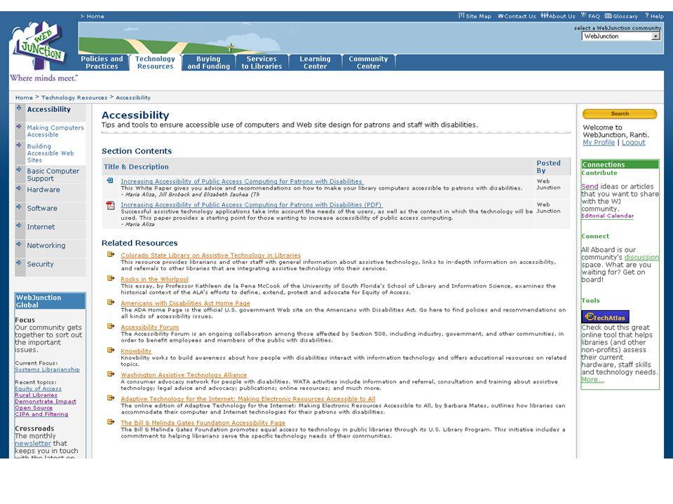 Community - WebJunction