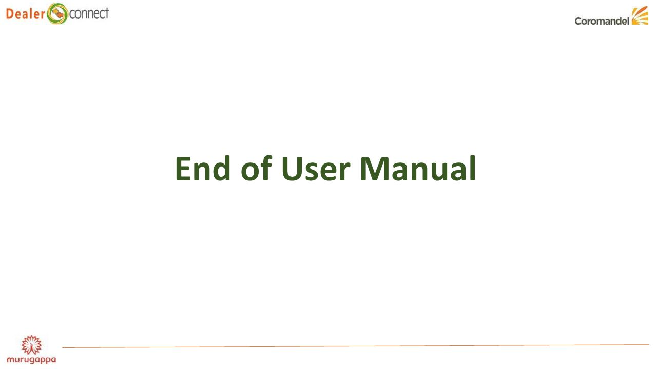 End of User Manual