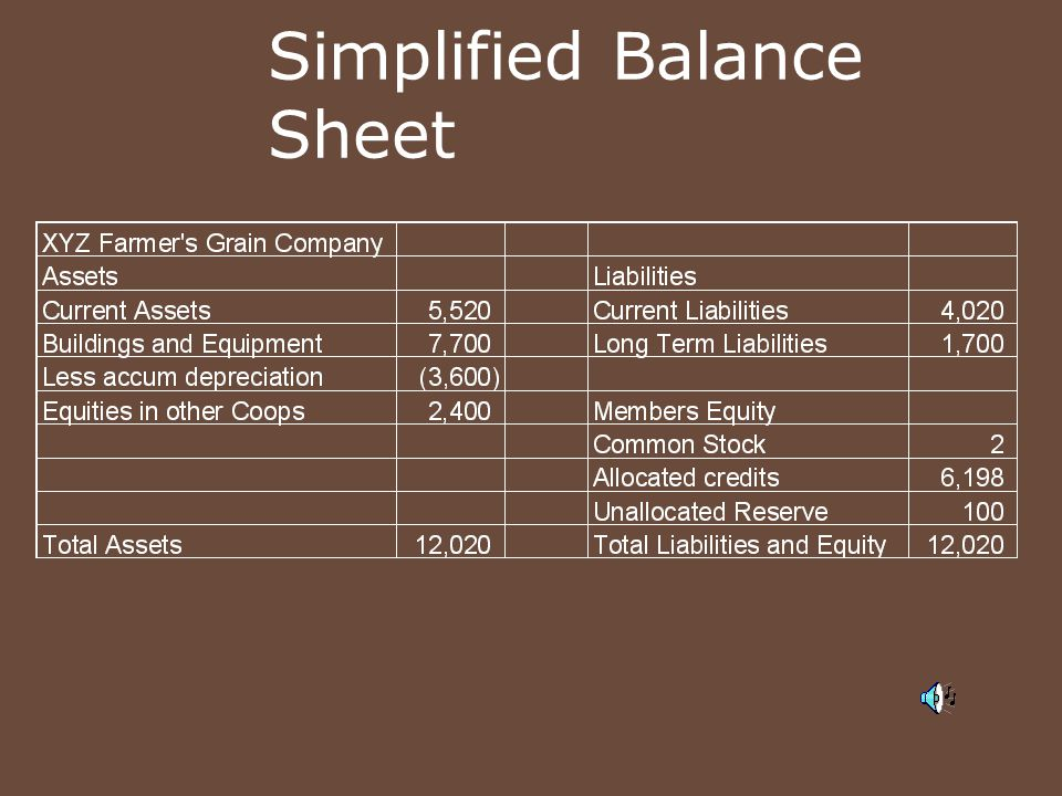 Simplified Balance Sheet
