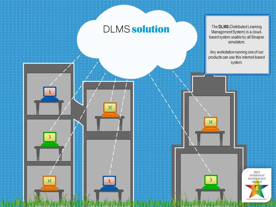 The DLMS (Distributed Learning Management System) is a cloud- based system usable by all Sinapse simulators.