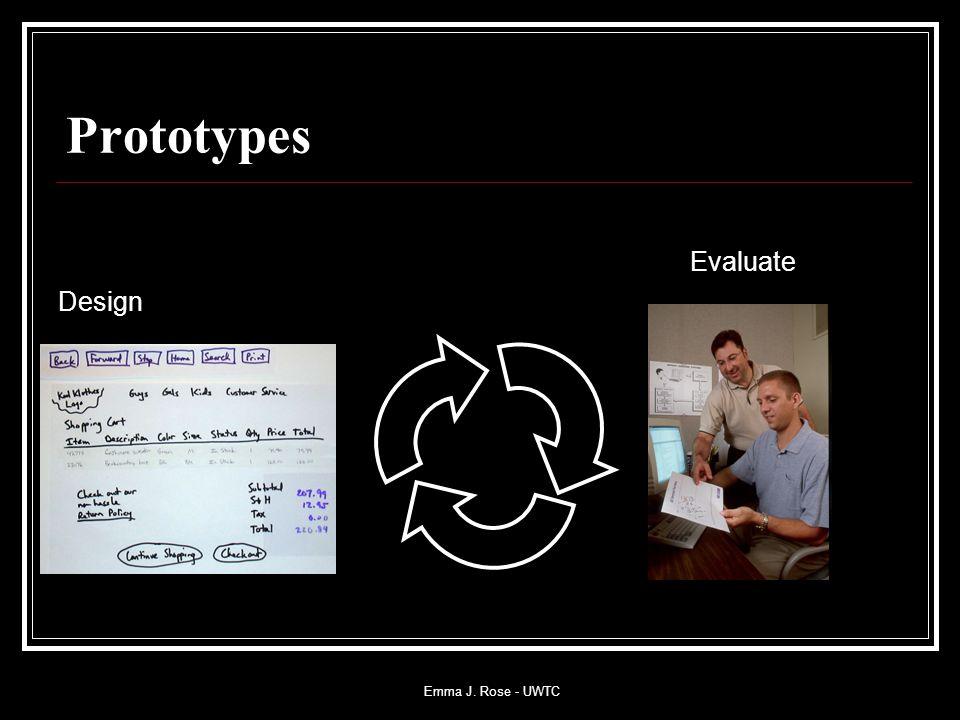 Emma J. Rose - UWTC Prototypes Evaluate Design