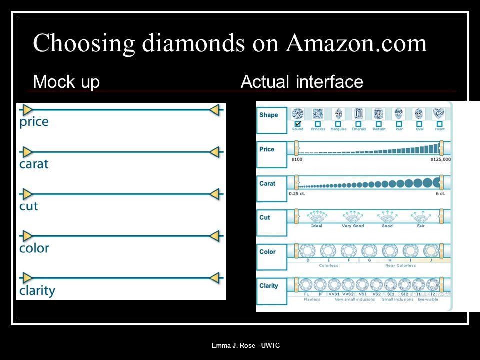 Emma J. Rose - UWTC Choosing diamonds on Amazon.com Mock upActual interface