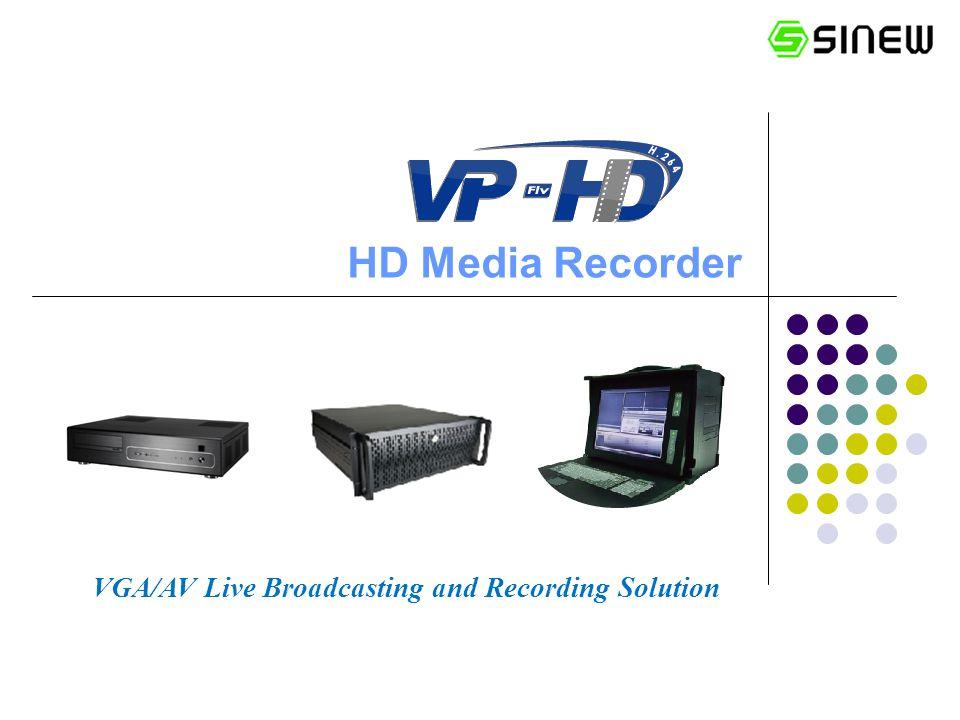 HD Media Recorder VGA/AV Live Broadcasting and Recording Solution