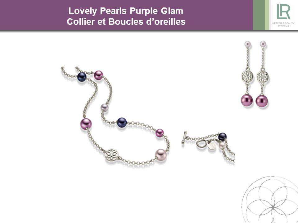Lovely Pearls Purple Glam Collier et Boucles d'oreilles