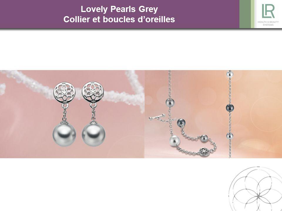 Lovely Pearls Grey Collier et boucles d'oreilles