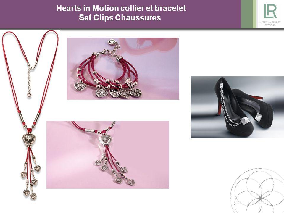 Hearts in Motion collier et bracelet Set Clips Chaussures Réf : 67229