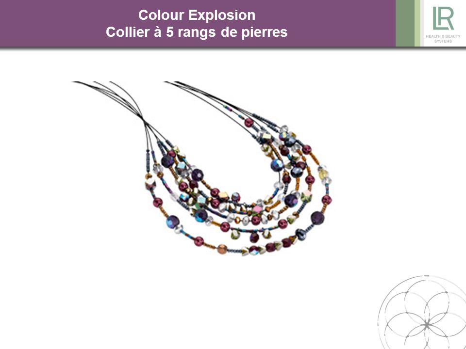 Colour Explosion Collier à 5 rangs de pierres