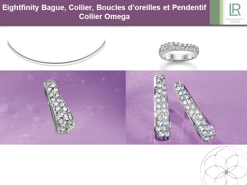 Eightfinity Bague, Collier, Boucles d'oreilles et Pendentif Collier Omega