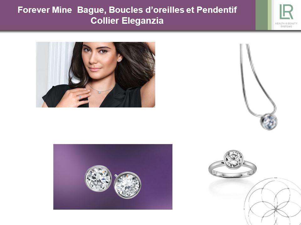 Solitaire BO COLLIER BAGUE Forever Mine Bague, Boucles d'oreilles et Pendentif Collier Eleganzia