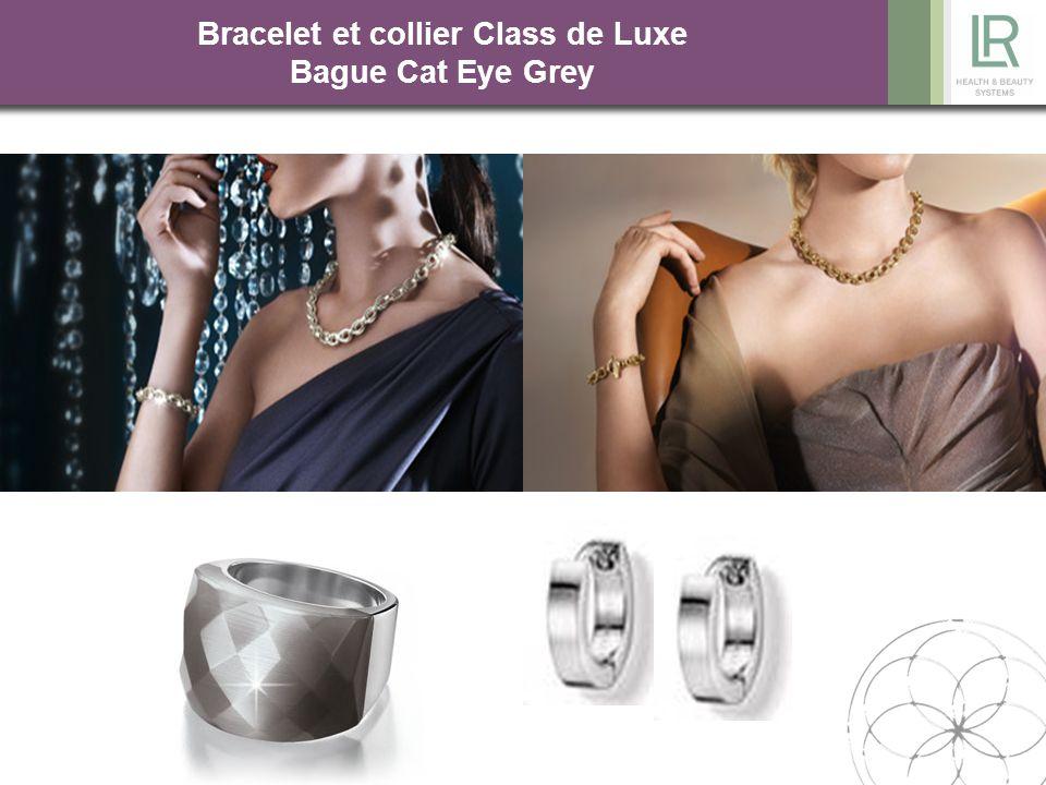 Bracelet et collier Class de Luxe Bague Cat Eye Grey