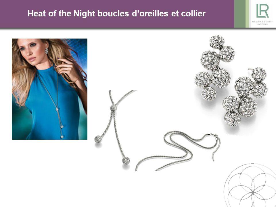 Heat of the Night boucles d'oreilles et collier