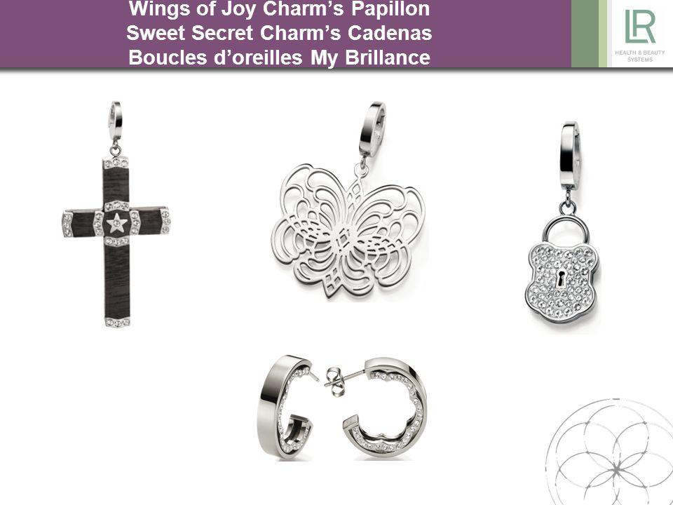 Wings of Joy Charm's Papillon Sweet Secret Charm's Cadenas Boucles d'oreilles My Brillance