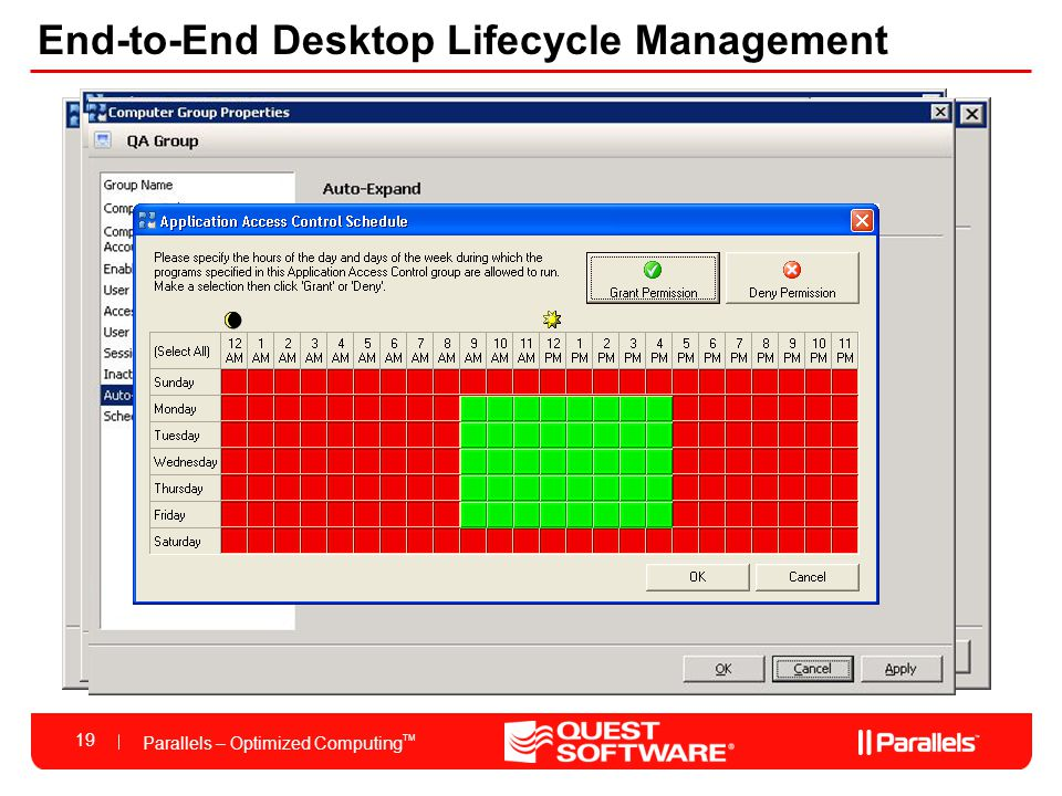 Parallels – Optimized Computing TM 19 Parallels Virtuozzo End-to-End Desktop Lifecycle Management