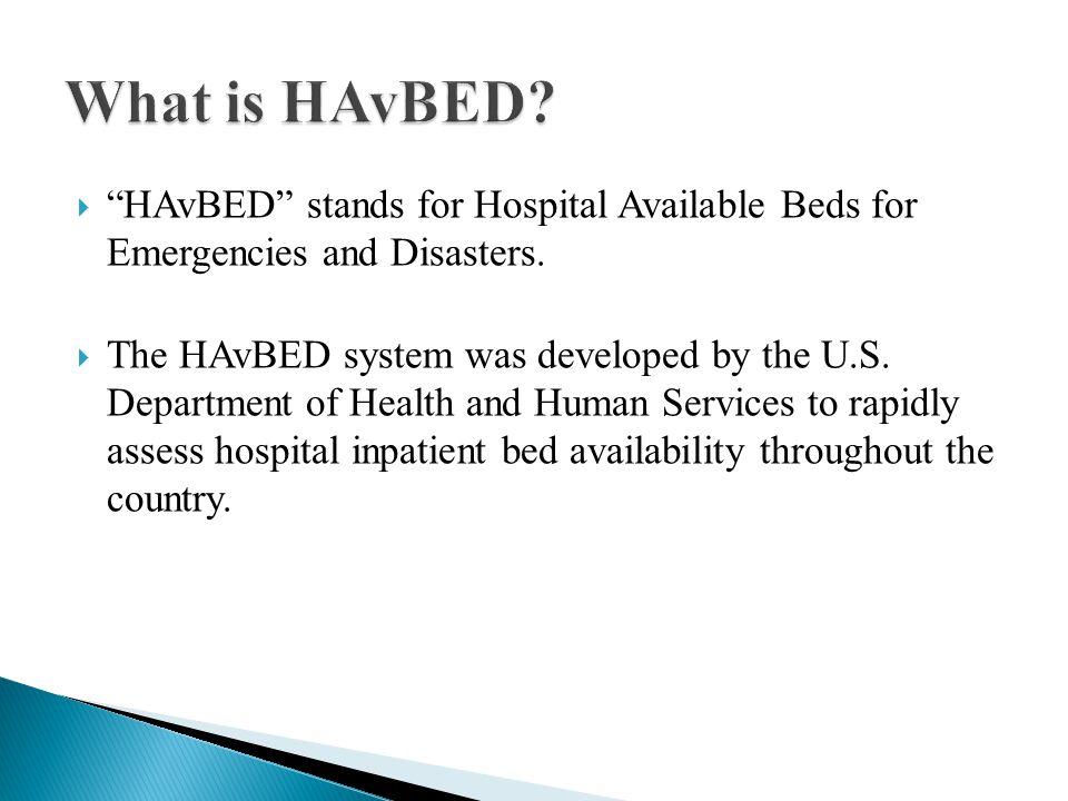 HAvBED Definitions