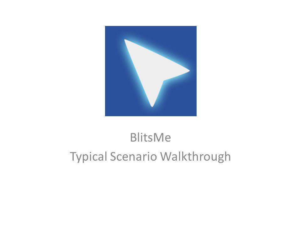 BlitsMe Typical Scenario Walkthrough