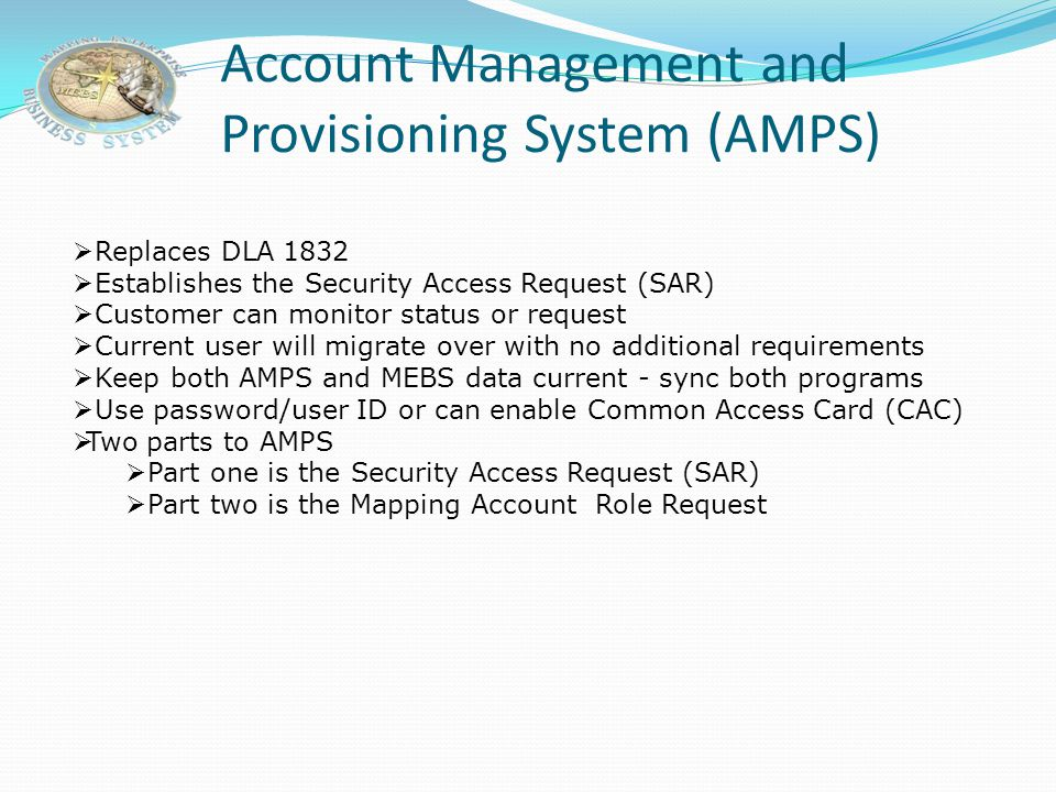 Request Role – Select Application 1. Select the MEBS application. 2. Click Next .