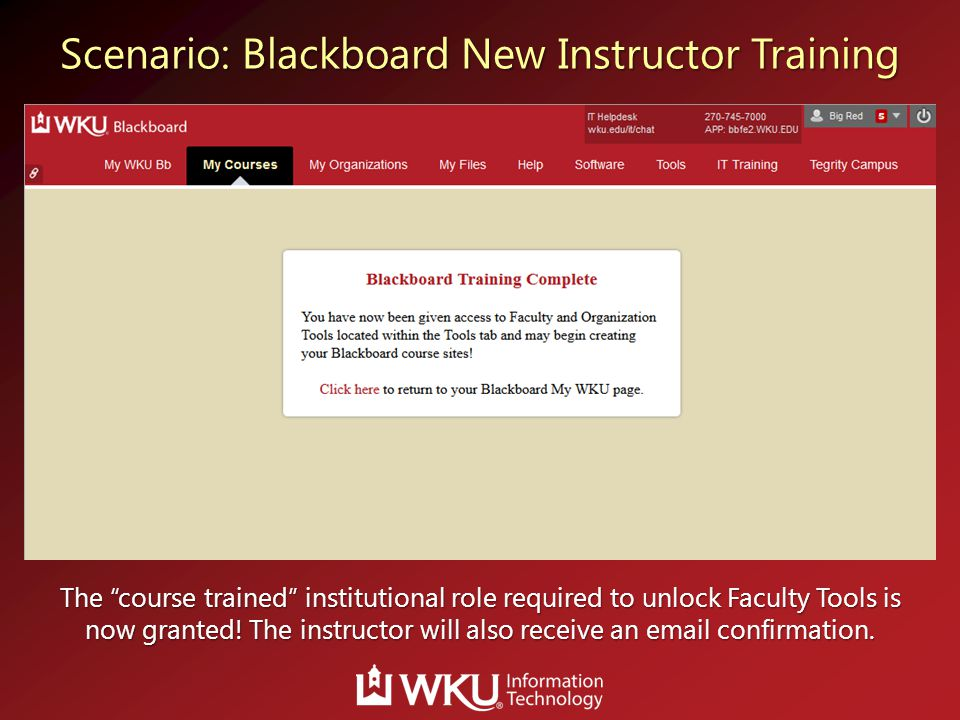 "The ""course trained"" institutional role required to unlock Faculty Tools is now granted! The instructor will also receive an email confirmation."