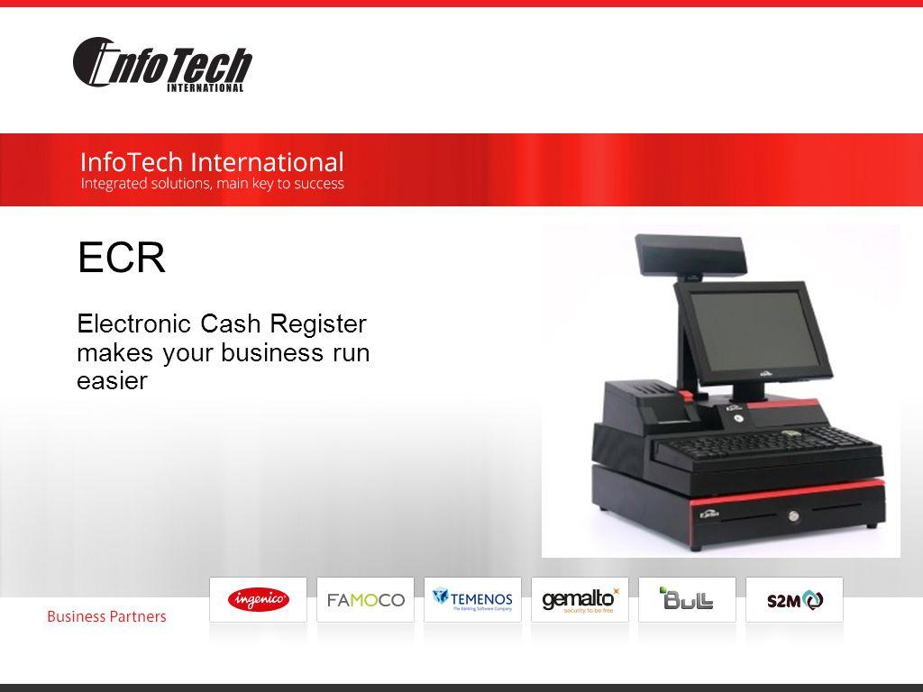 ECR Electronic Cash Register makes your business run easier