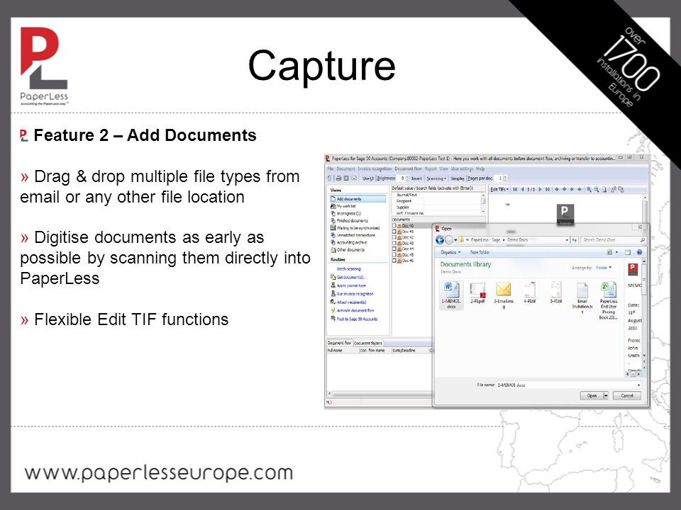 Capture » Fast invoice recognition process to extract data from your invoices » Two layers of recognition technology » Reduce manual data entry Feature 3 – Automatic Invoice Recognition