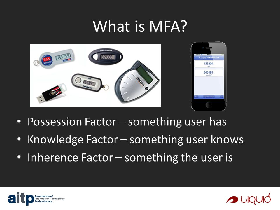 What is MFA.