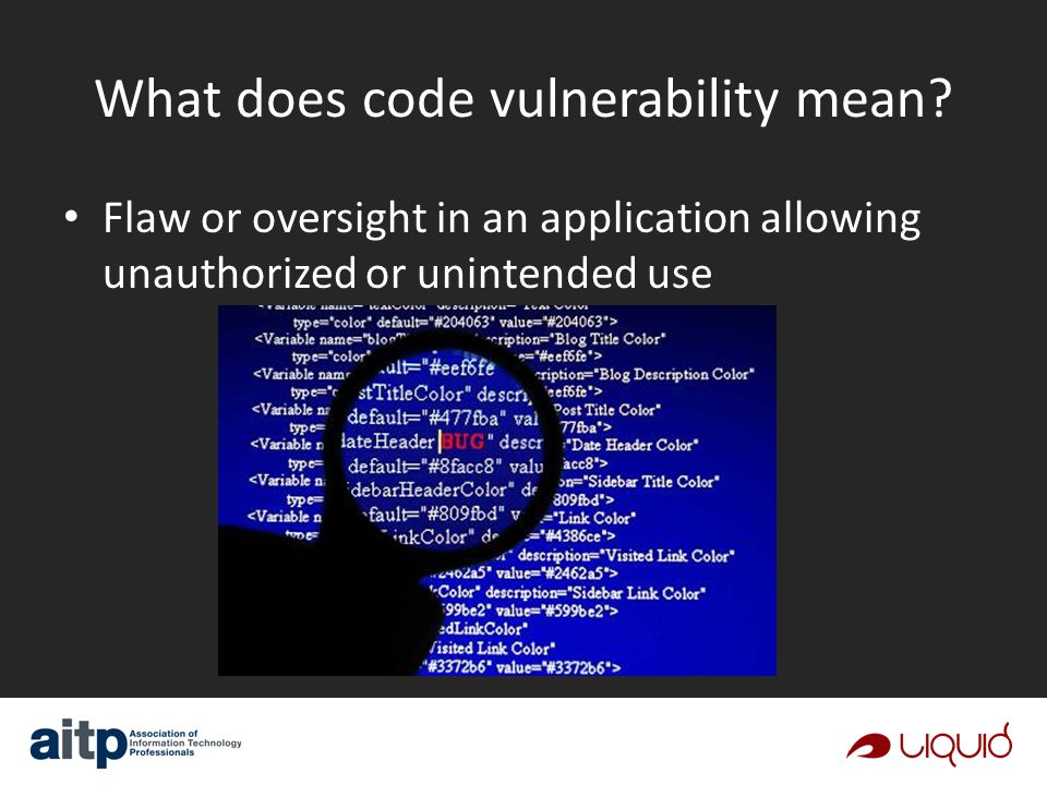 What does code vulnerability mean.