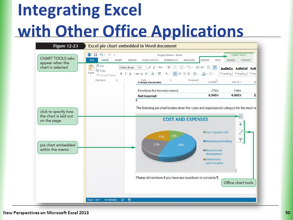 XP Integrating Excel with Other Office Applications New Perspectives on Microsoft Excel 201350