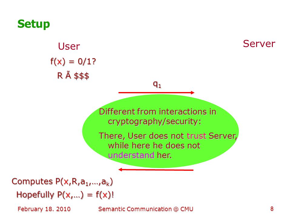 Sensing & Universality To achieve goal, User should be able to sense progress.