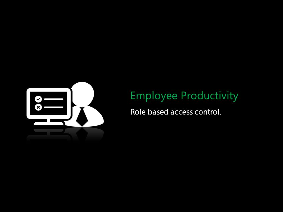 Employee Productivity Role based access control.