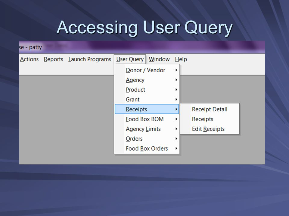 Accessing User Query