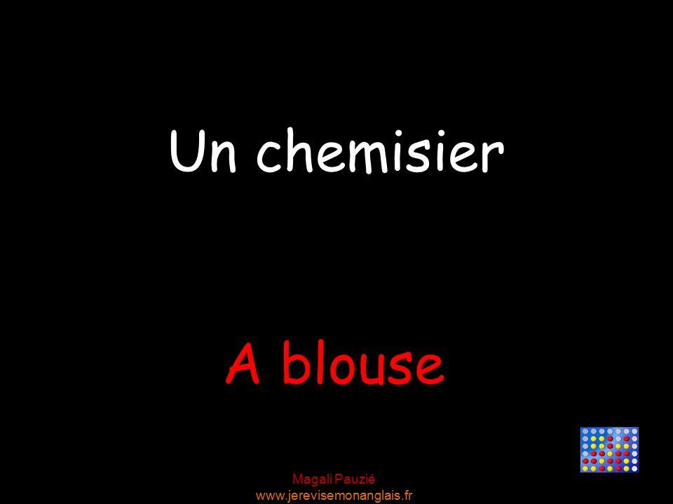 Magali Pauzié www.jerevisemonanglais.fr A blouse Un chemisier