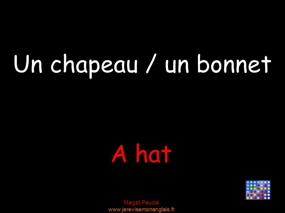 Magali Pauzié www.jerevisemonanglais.fr A hat Un chapeau / un bonnet