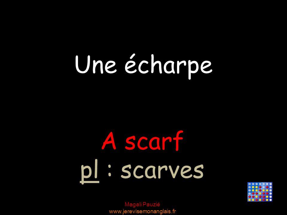Magali Pauzié www.jerevisemonanglais.fr A scarf pl : scarves Une écharpe