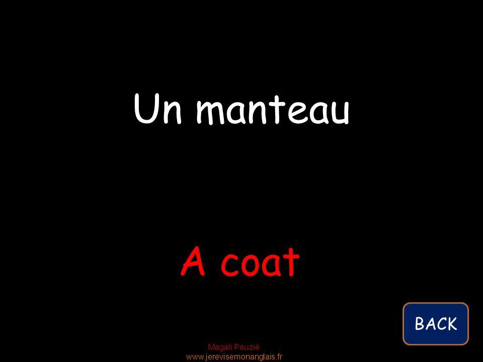 Magali Pauzié www.jerevisemonanglais.fr A coat Un manteau BACK