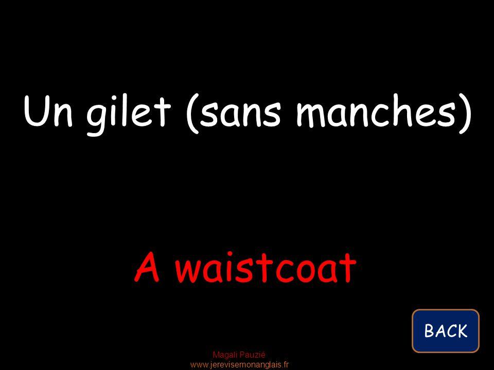 Magali Pauzié www.jerevisemonanglais.fr A waistcoat Un gilet (sans manches) BACK