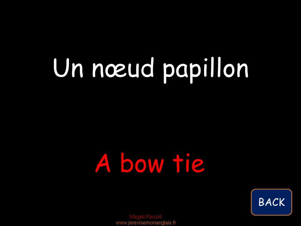 Magali Pauzié www.jerevisemonanglais.fr A bow tie Un nœud papillon BACK