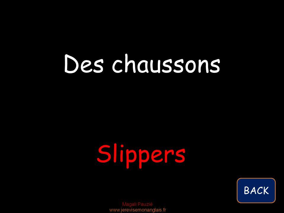 Magali Pauzié www.jerevisemonanglais.fr Slippers Des chaussons BACK