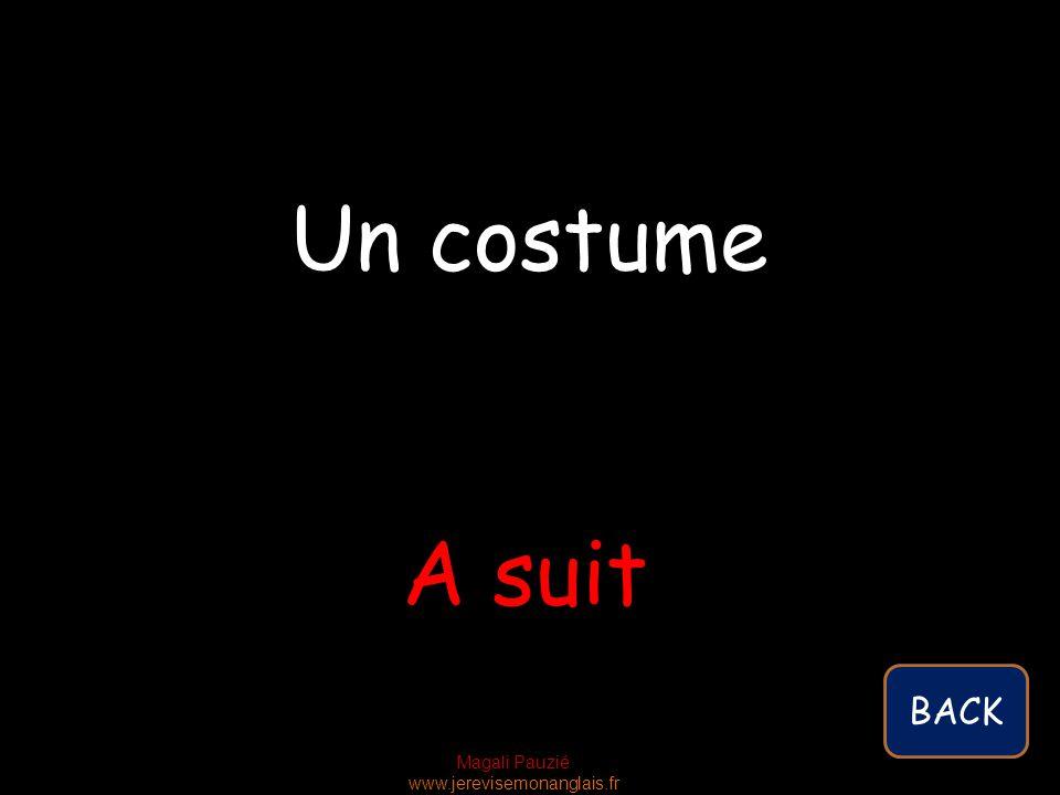 Magali Pauzié www.jerevisemonanglais.fr A suit Un costume BACK