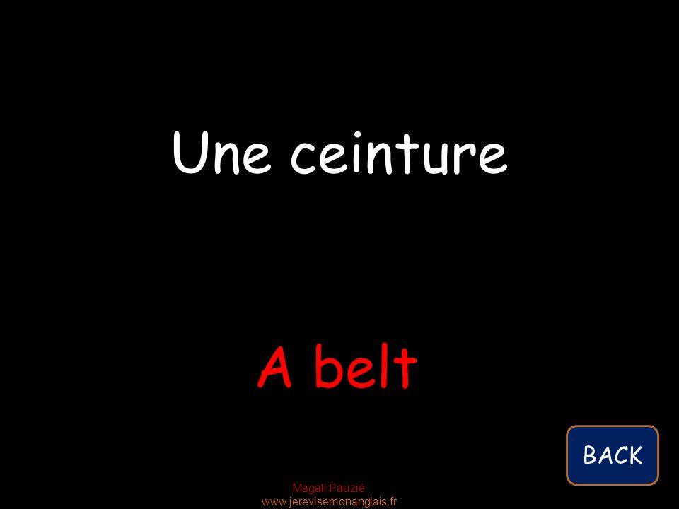 Magali Pauzié www.jerevisemonanglais.fr A belt Une ceinture BACK