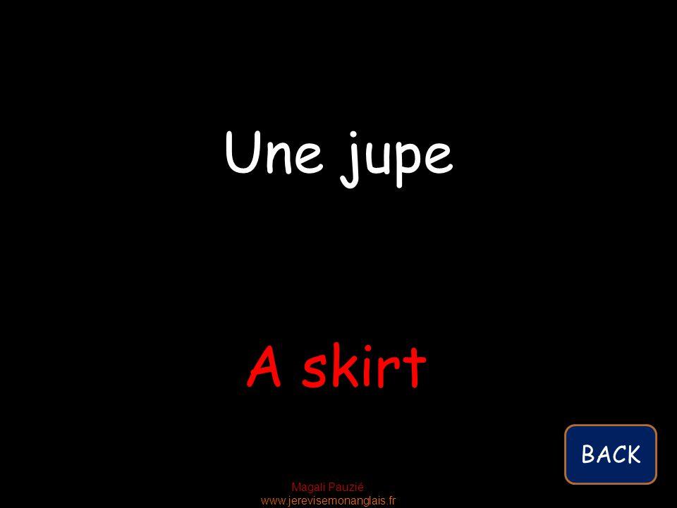Magali Pauzié www.jerevisemonanglais.fr A skirt Une jupe BACK