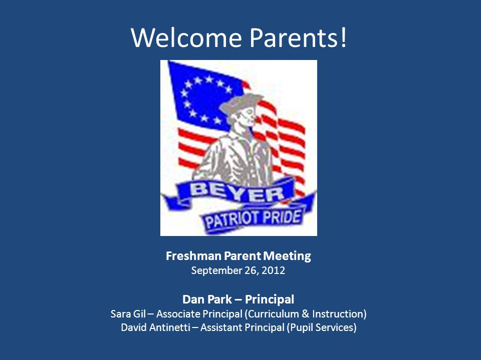 Welcome Parents.