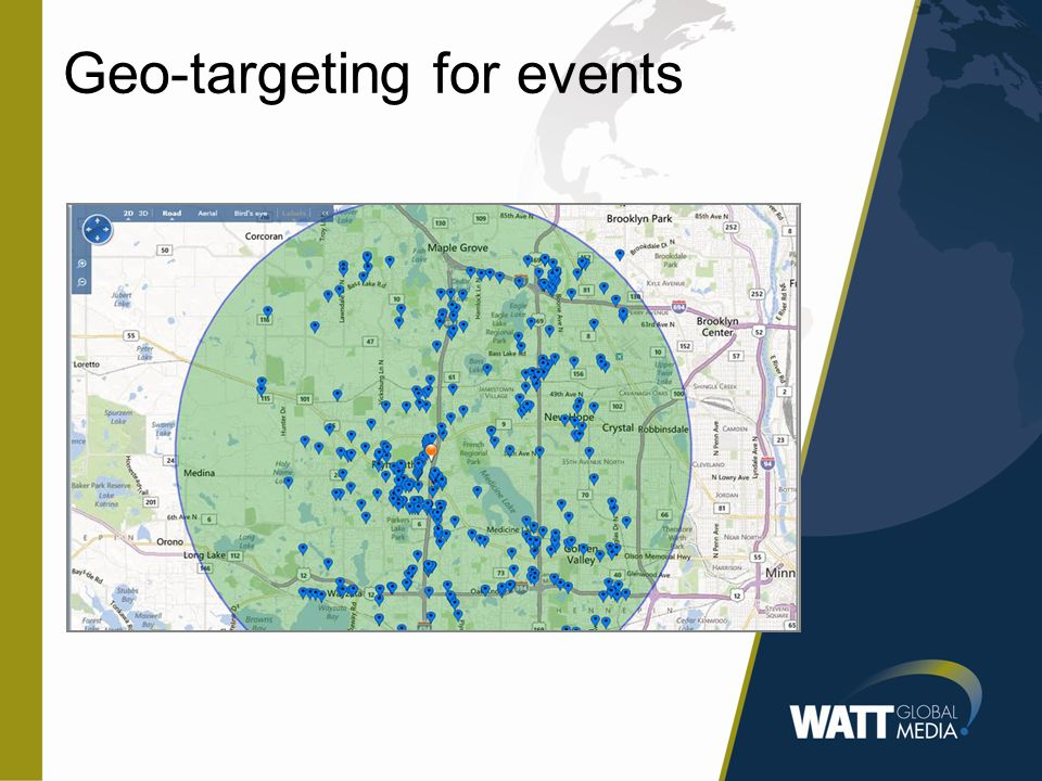 Geo-targeting for events
