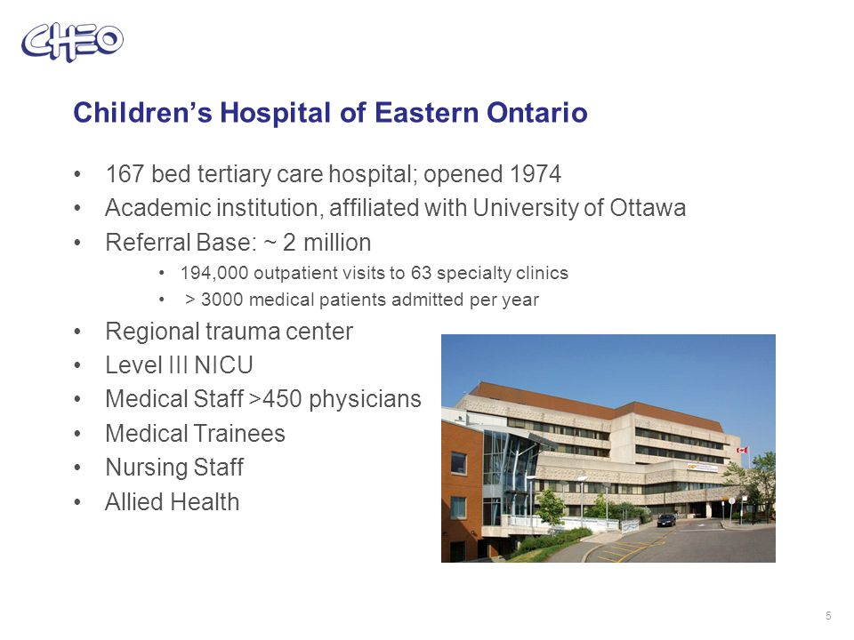Implementing an integrated EMR at CHEO 6 Phase 3: Anesthesia, Surgery, Oncology Phase 2: Emergency, Pharmacy, Inpatient Phase 1: Ambulatory, Lab, Registration, Billing Wave 1 Ambulatory Clinics Pediatric Medicine Rheumatology Infectious Diseases Genetics Ear, Nose & Throat Audiology Physiotherapy