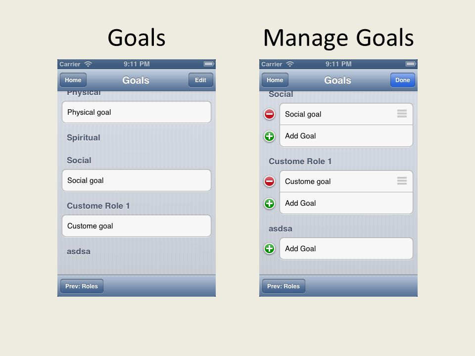 GoalsManage Goals