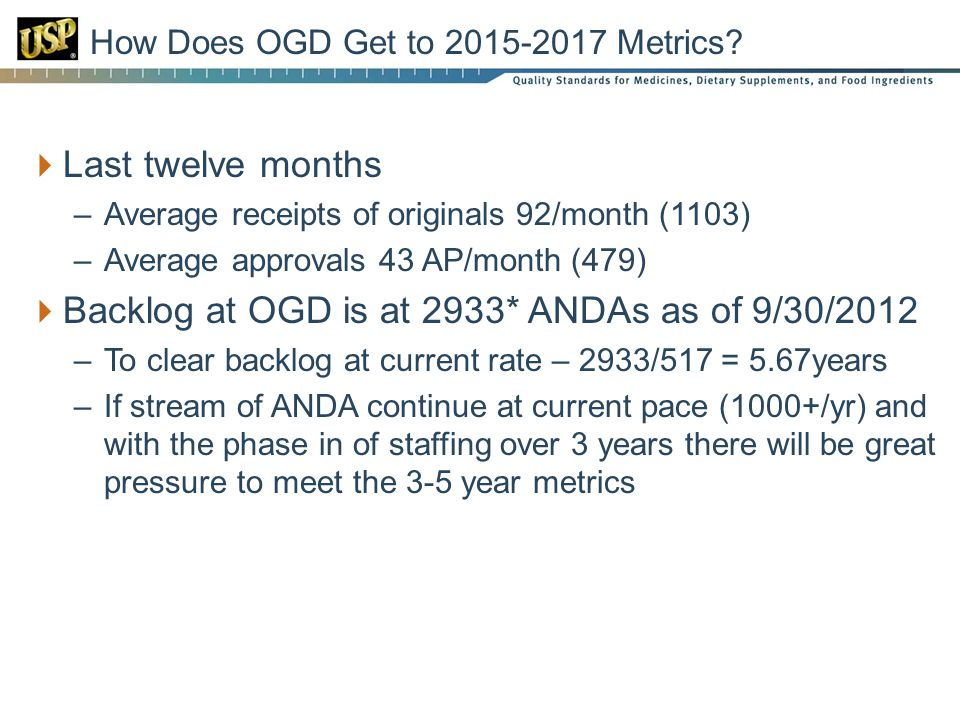 How Does OGD Get to 2015-2017 Metrics.