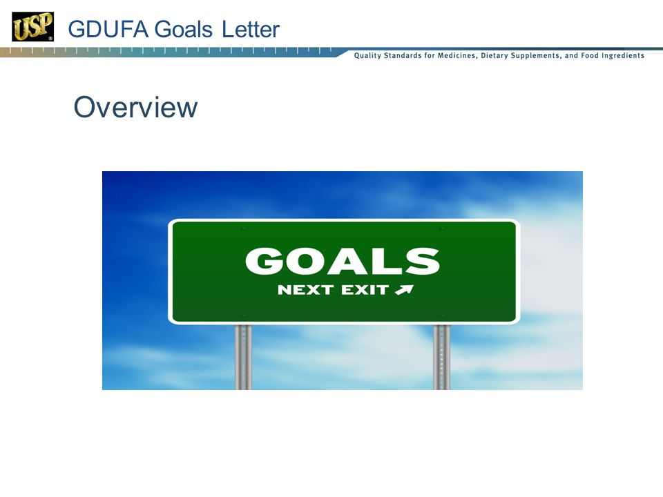 24 GDUFA Goals Letter Overview
