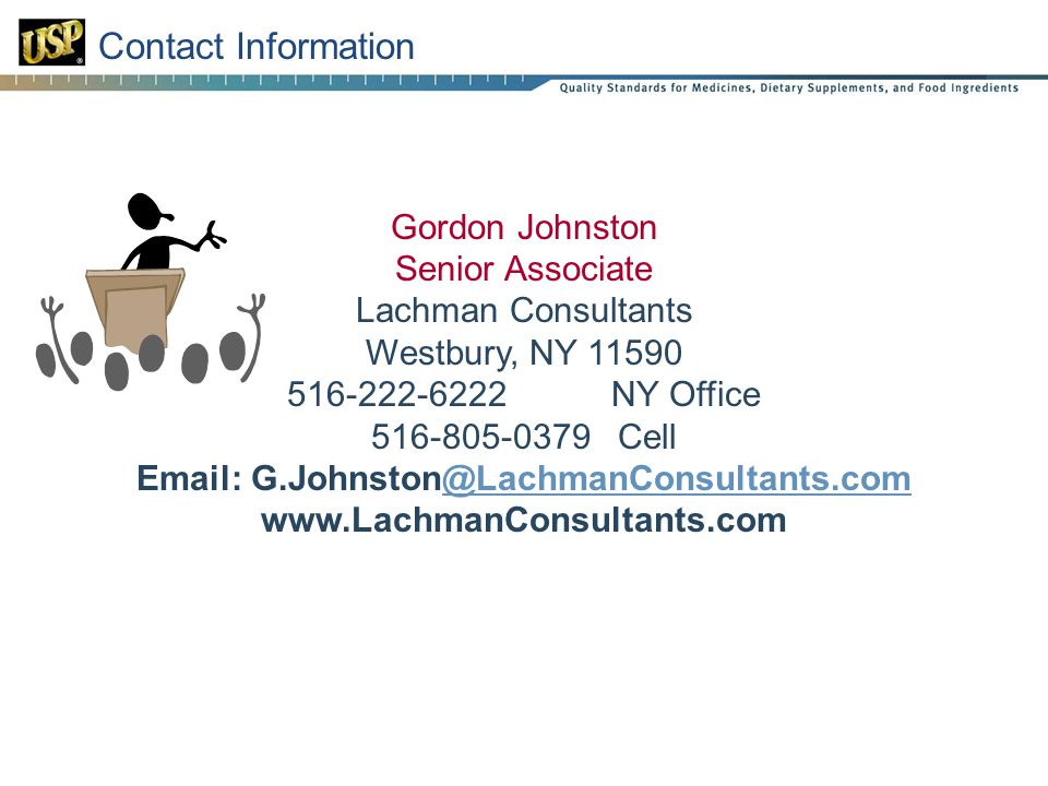 Contact Information Gordon Johnston Senior Associate Lachman Consultants Westbury, NY NY Office Cell
